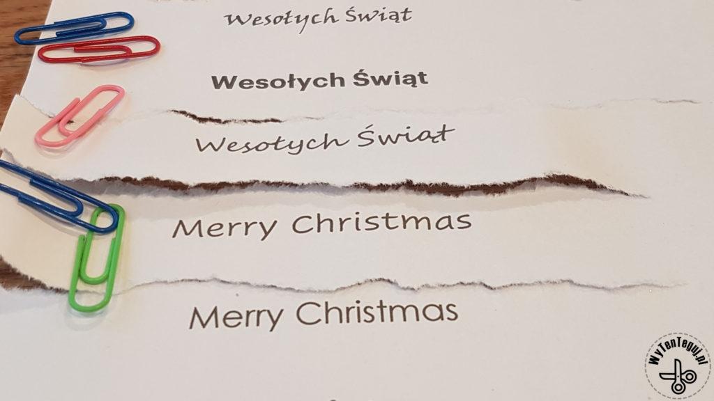 Przygotowanie życzeń świątecznych