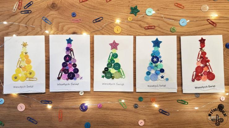Kartki świąteczne z guzików