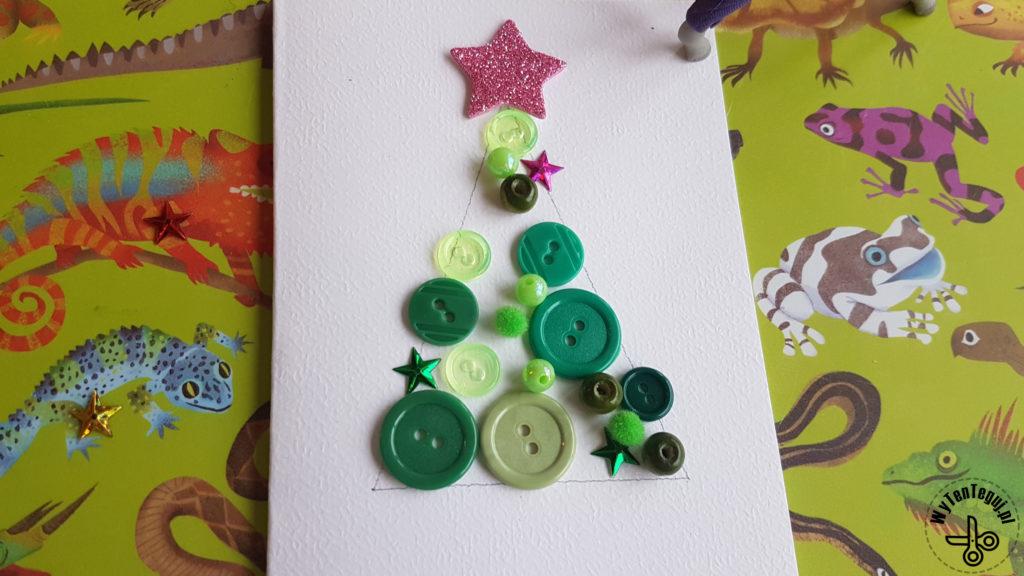 Robimy kartki bożonarodzeniowe z guzikami
