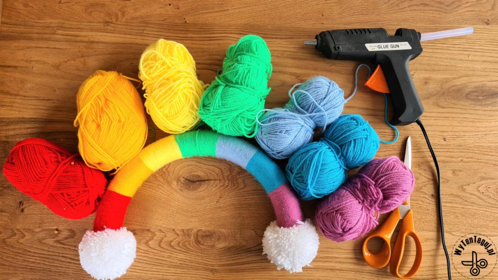 Supplies for rainbow bow holder organizer