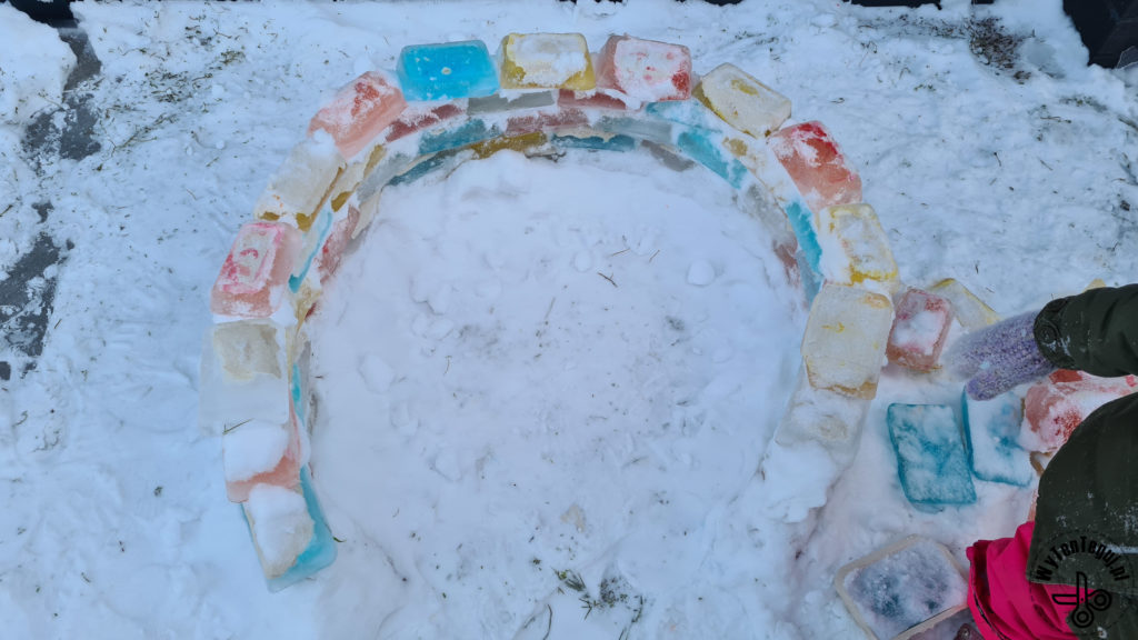 Building rainbow igloo