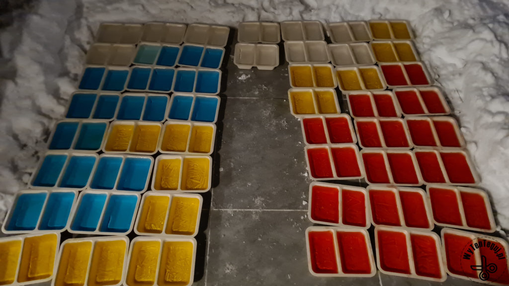 Making of ice bricks