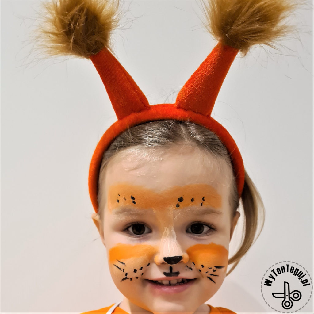 Squirrel face painting