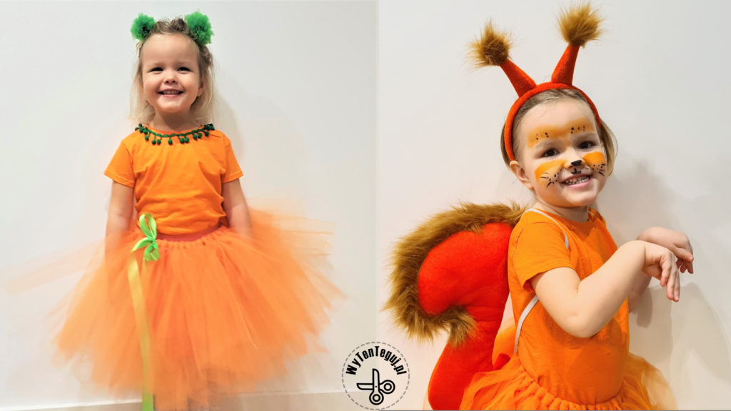 pumpkin and squirrel tutu costumes
