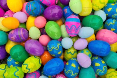 Plastikowe jajka wielkanocne