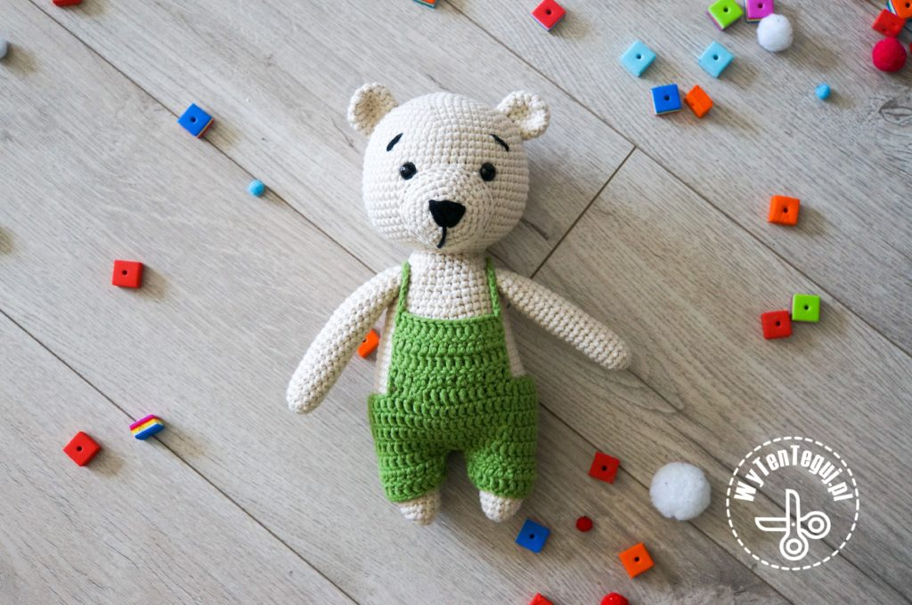 Teddy bear with overalls