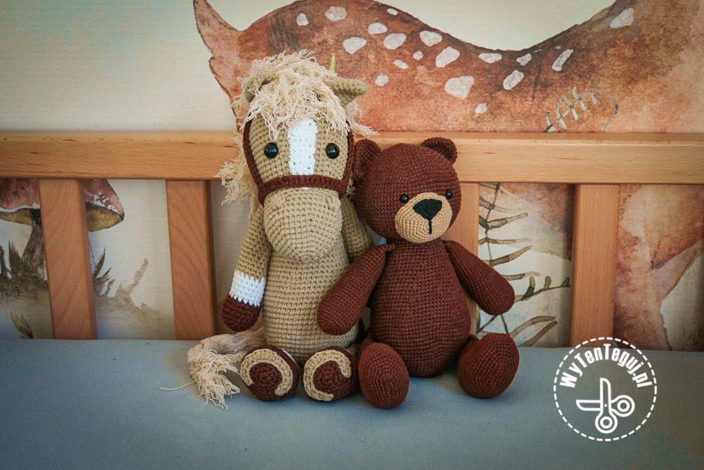 Horse with teddy bear