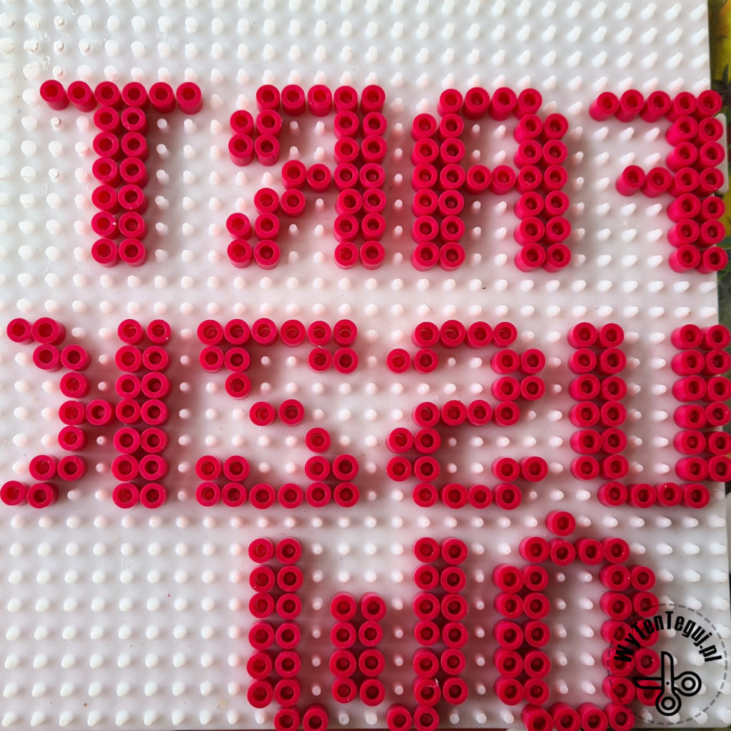 Mirror Hama beads letters