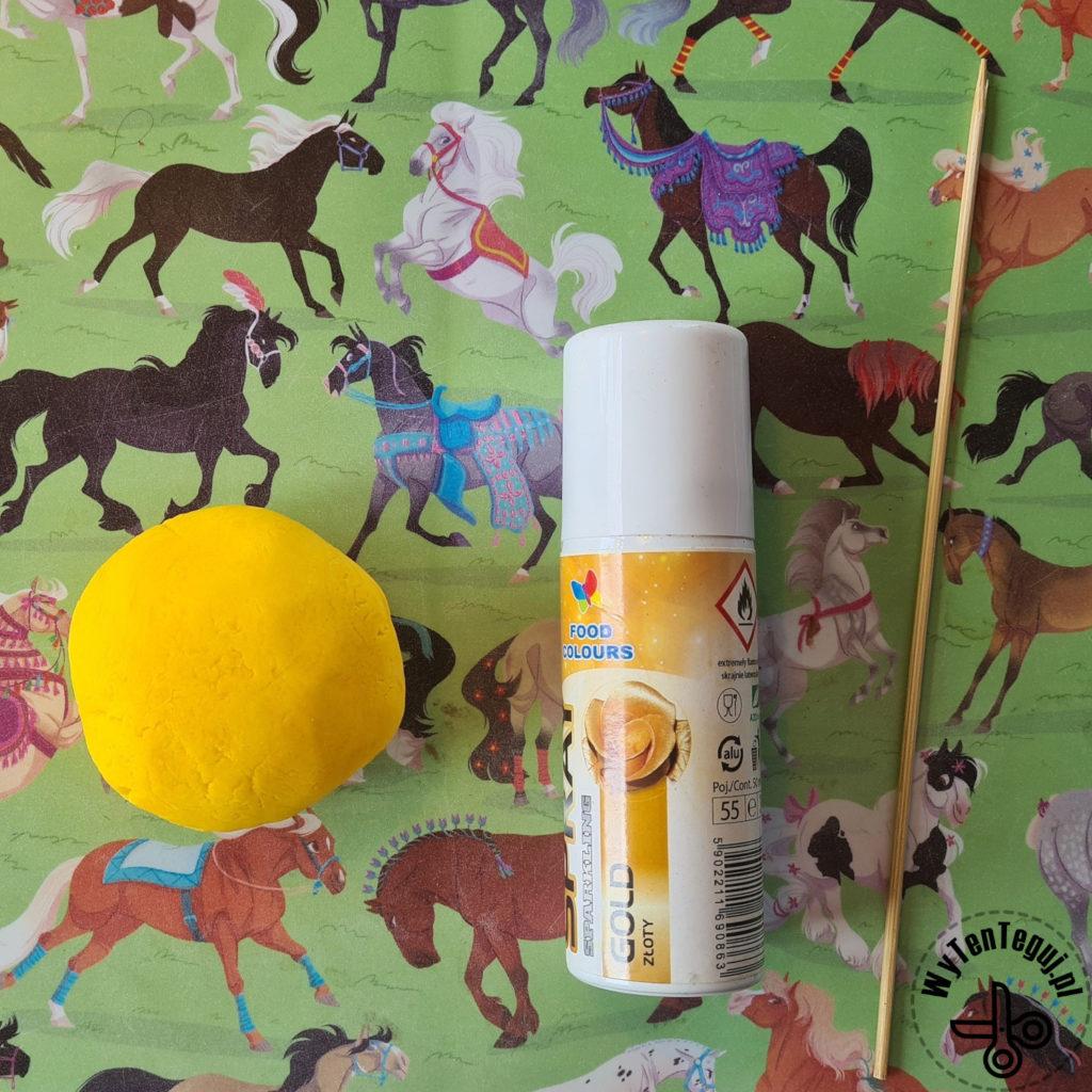 Supplies for fondant unicorn horn