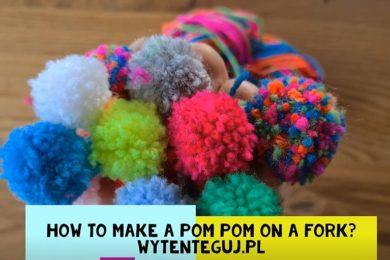 How to make pom pom on a fork?