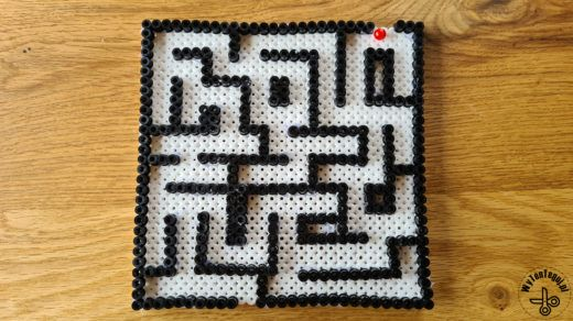 Maze game out of Hama beads