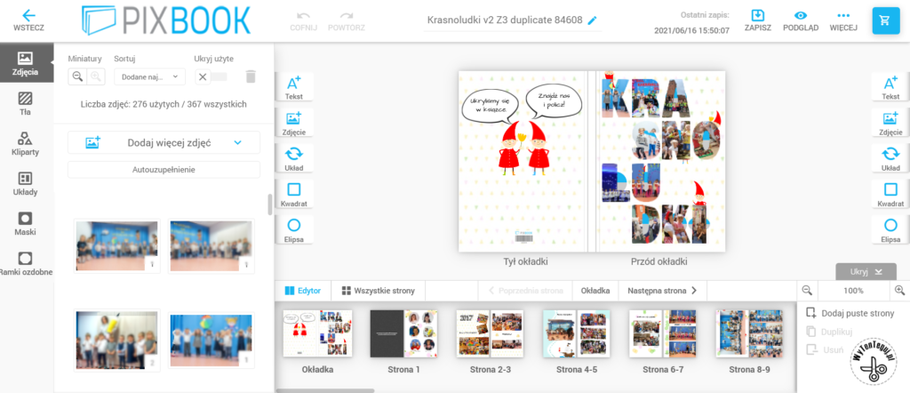 How to make photobook - online editor