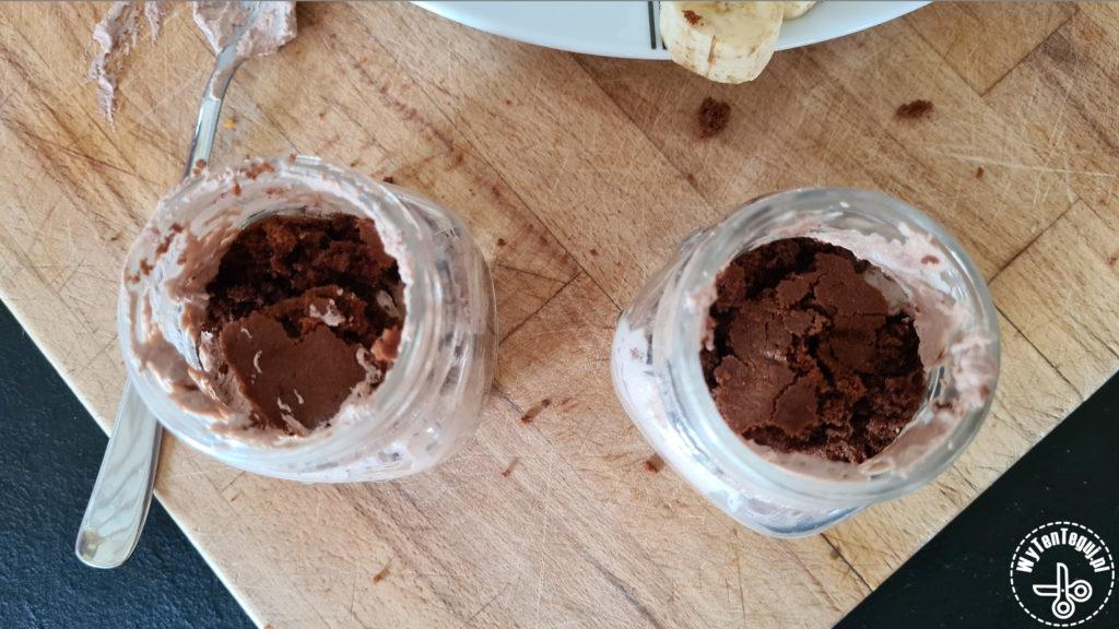 Mole cake in a jar