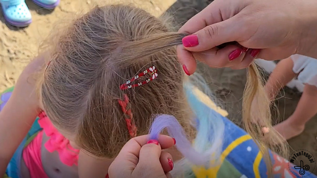How to make colorful summer braids for kids