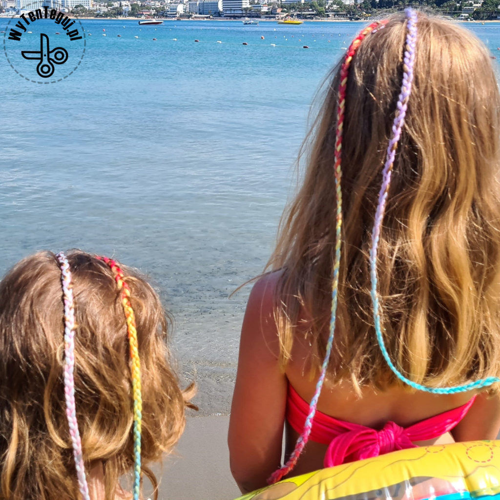 Colorful summer braids for kids