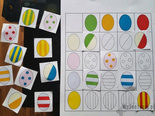 Colors and shapes matching game