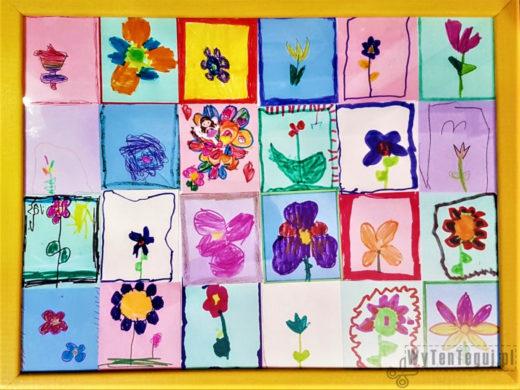 Floral mosaic for a Teacher