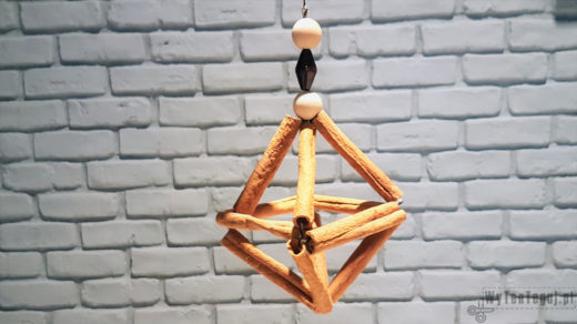 Cinnamon stick ornament in Scandinavian style