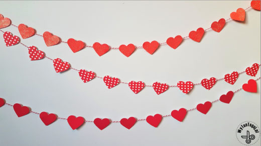 Heart garland for Valentine's Day