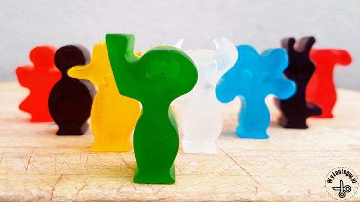 Multi colored glycerin soap