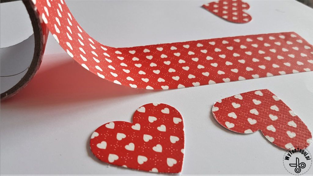 Hearts out of color duck tape