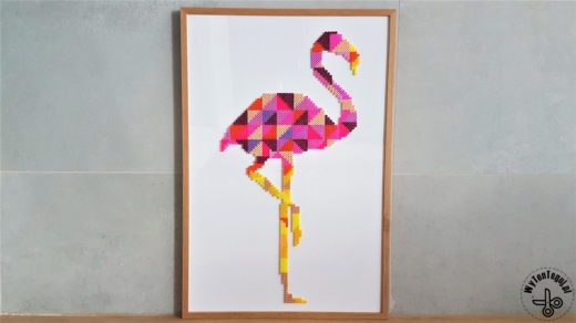 perler beads flamingo