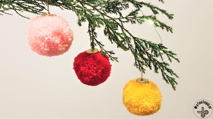 Pom pom Christmas baubles