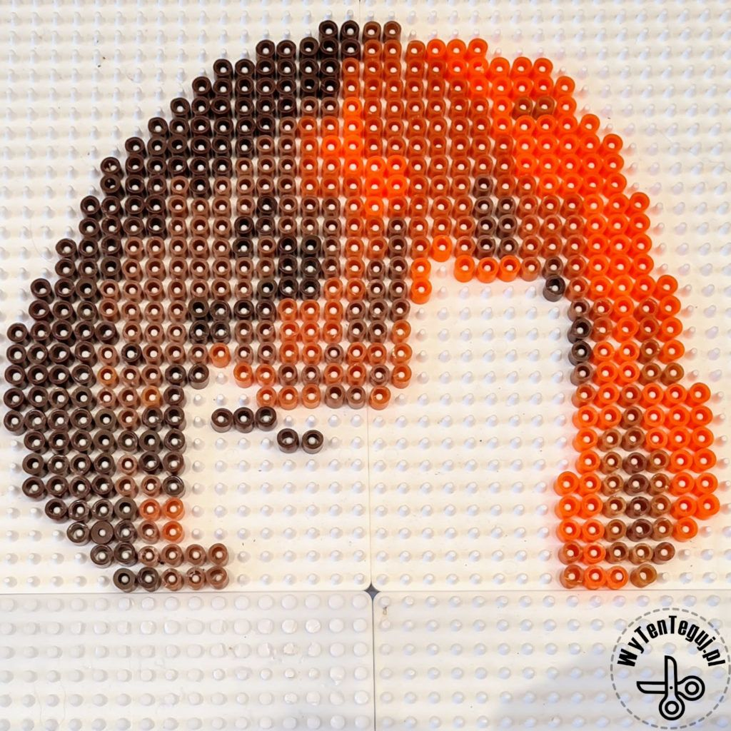 Hair out of Hama beads