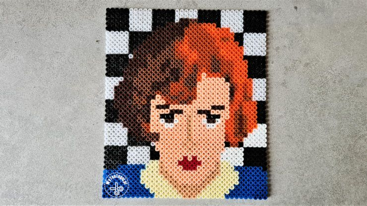Beth Harmon out of Hama beads
