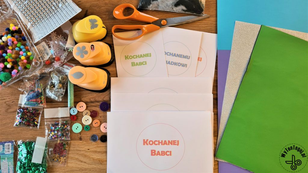 Supplies for cards for grandparents' day
