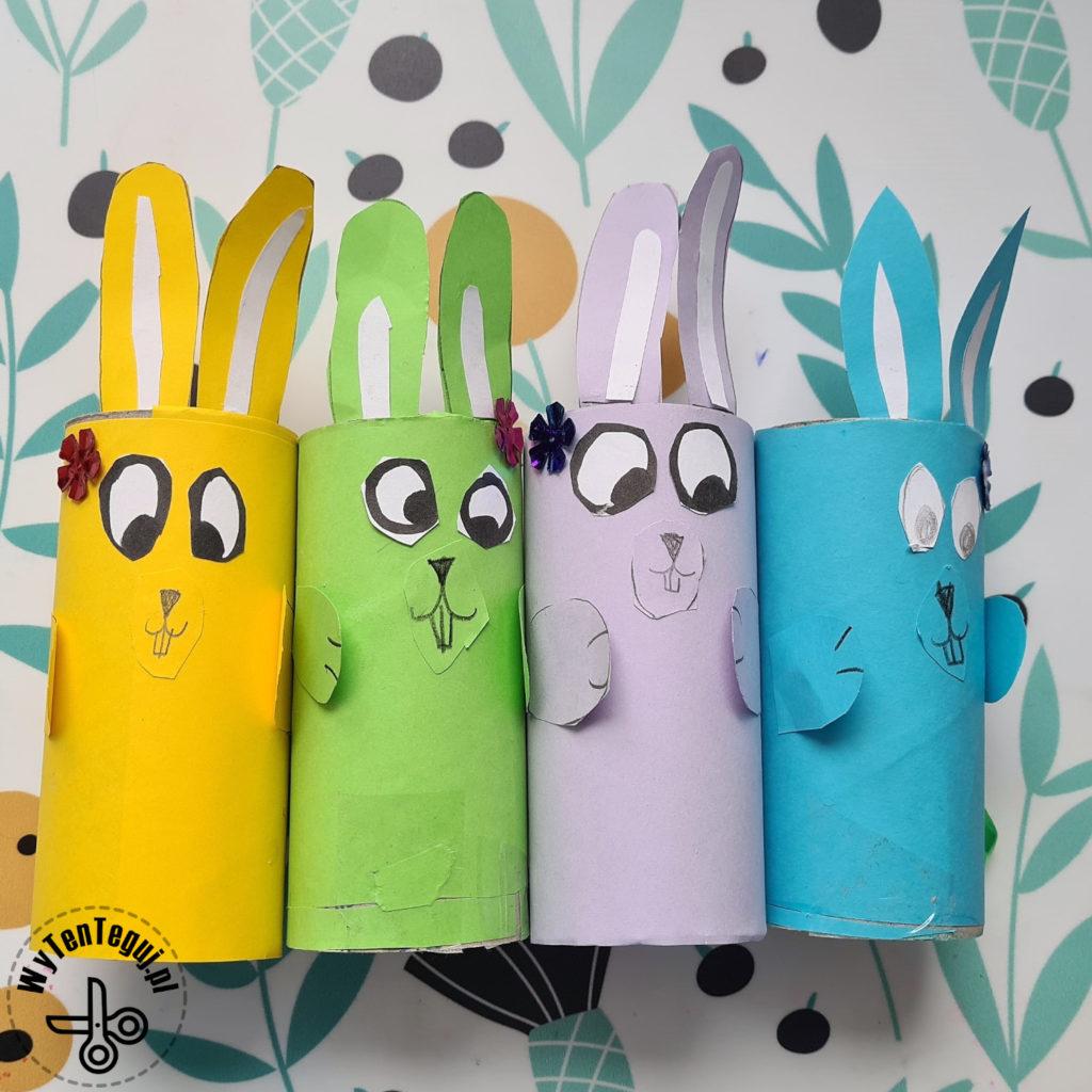 Króliki z rolki po papierze