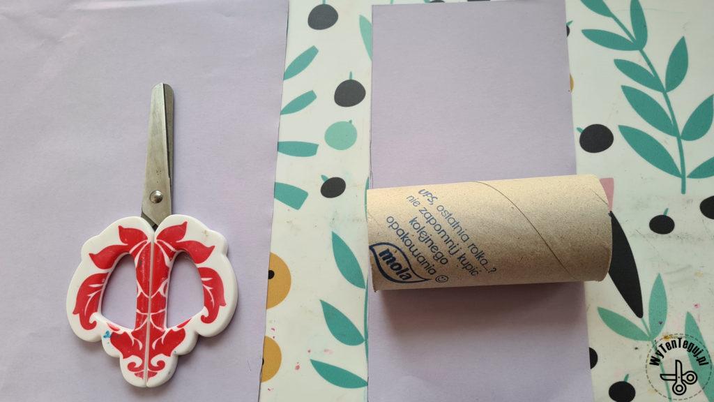 Wymierzenie paska papieru o szerokości rolki