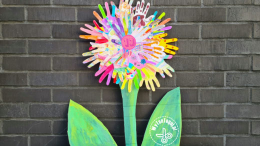 Awesome handprint flower for the Teacher
